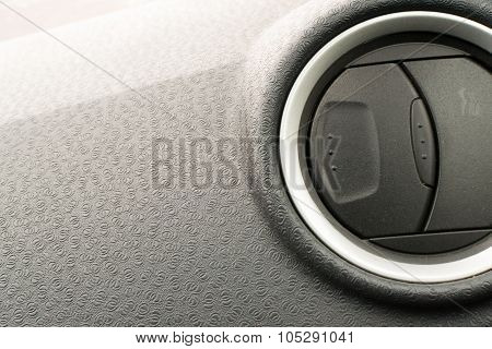 Car Interiror Dashboard With Air Conditioning