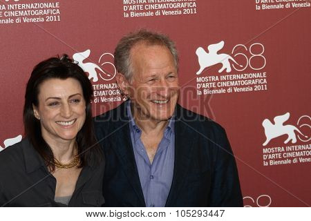 VENICE, ITALY - SEPTEMBER 09: Ami Canaan Mann and  Michael Mann poses at the 'Texas Killing Fields' photocall during the 68th Venice Film Festival at Palazzo on September 9, 2011 in Venice, Italy.