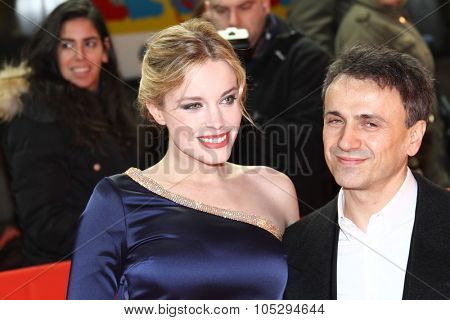 BERLIN, GERMANY - FEBRUARY 15: Jose Mota and Carolina Herrera Bang attend the 'La Chispa De La Vida'  during of the Berlin  Festival at the Friedrichstadtpalast on Feb. 15, 2012 in Berlin, Germany.
