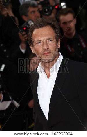 CANNES, FRANCE - MAY 19: Stephane Freiss attends the 'Lawless' Premiere attends the 'Lawless' Premiere during the 65th  Cannes  Festival at Palais des Festivals on May 19, 2012 in Cannes, France.