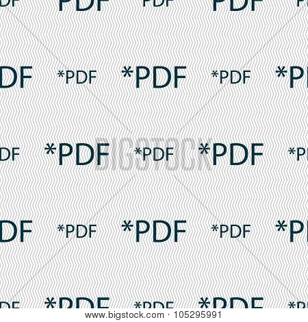 Pdf File Document Icon. Download Pdf Button. Pdf File Extension Symbol. Seamless Abstract Background