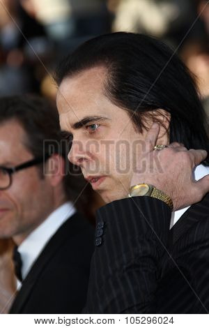 CANNES, FRANCE - MAY 19: Nick Cave  attends the 'Lawless' Premiere attends the 'Lawless' Premiere during the 65th  Cannes  Festival at Palais des Festivals on May 19, 2012 in Cannes, France.