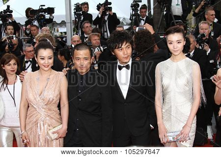 CANNES, FRANCE - MAY 17:  Hao Lei, director Ye Lou, actors Qi Xi and Qin Hao attend the 'De Rouille et D'os' Premiere during the 65th Cannes Film Festival at Palais on May 17, 2012 in Cannes, France.