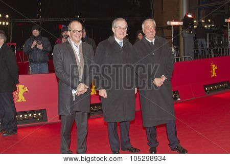 BERLIN, GERMANY - FEBRUARY 14: Maurice Gourdault-Montagne, Bernd Neumann attend the Golden Bear Award during the 63rd Berlinale Festival at Berlinale Palast on February 14, 2013 in Berlin, Germany.