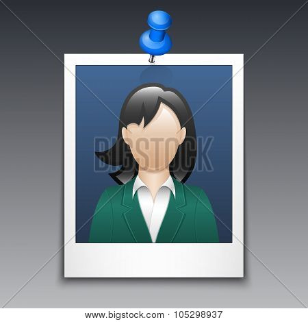Photo Frame With Woman In Business Suit