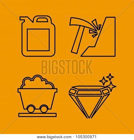 mining icon set