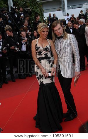 CANNES, FRANCE - MAY 19: Christophe Guillarme and Hofit Golan  attend 'Inside Llewyn Davis' Premiere during the 66th Cannes Film Festival at Palais des Festivals on May 19, 2013 in Cannes, France.