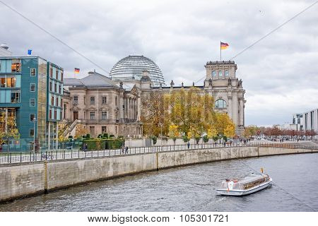 Spree River And Reichstag, Berlin