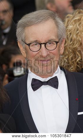 CANNES, FRANCE - MAY 19: Steven Spielberg attends 'Inside Llewyn Davis' Premiere during the 66th Cannes Film Festival at Palais des Festivals on May 19, 2013 in Cannes, France.