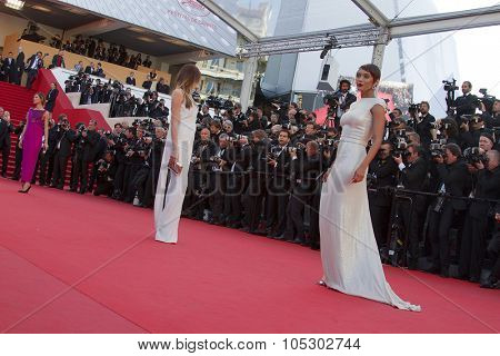 CANNES, FRANCE - MAY 24: Models attend the premiere of 'The Immigrant' at The 66th Annual Cannes Film Festival on May 24, 2013 in Cannes, France