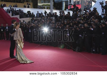 CANNES, FRANCE - MAY 24: Olivia Palermo attends the premiere of 'The Immigrant' at The 66th Annual Cannes Film Festival on May 24, 2013 in Cannes, France