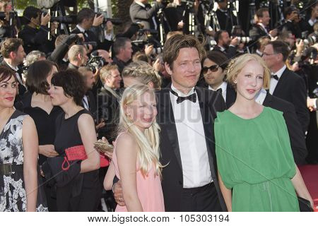CANNES, FRANCE - MAY 26: Thomas Vinterberg and his daughters Ida and Nana  attend  the Closing Ceremony of The 66th  Cannes  Festival at Palais on May 26, 2013 in Cannes, France.