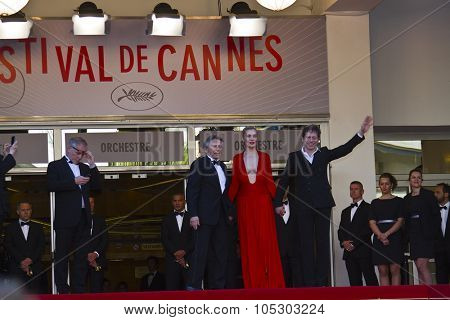 CANNES, FRANCE - MAY 25: Roman Polanski arrives at 'Venus In Fur' Premiere during the 66th Annual Cannes Film Festival at Grand Theatre Lumiere on May 25, 2013 in Cannes, France.