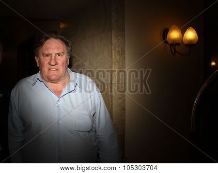 MOSCOW, RUSSIA - JUNE 20: Gerard Depardieu attends the  Hotel  Metropol on June 20, 2013 in Moscow, Russia.