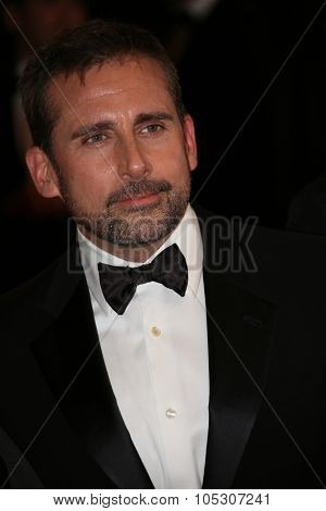 CANNES, FRANCE - MAY 19: Steve Carell  attends the 'Foxcatcher' Premiere at the 67th Annual Cannes  Festival on May 19, 2014 in Cannes, France