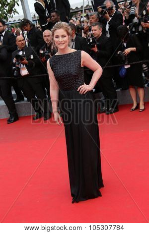 CANNES, FRANCE - MAY 17: Natacha Regnier attends the 'Saint Laurent' premiere at the 67th Annual Cannes Film Festival on May 17, 2014 in Cannes, France.