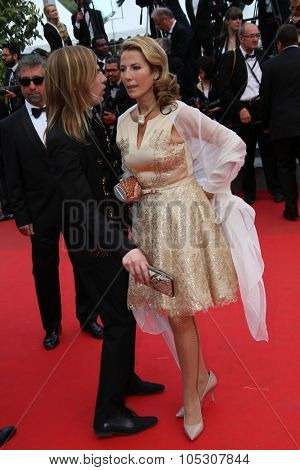 CANNES, FRANCE - MAY 17: Natacha Amal attends the 'Saint Laurent' premiere at the 67th Annual Cannes Film Festival on May 17, 2014 in Cannes, France.