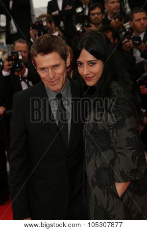 CANNES, FRANCE - MAY 22: Willem Dafoe; Giada Colagrande attend the 'Jimmy's Hall' premiere during the 67th Annual Cannes Film Festival on May 22, 2014 in Cannes, France.