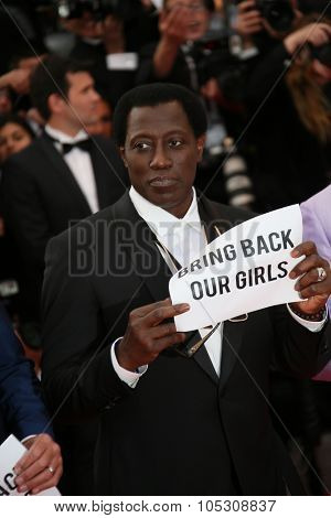 CANNES, FRANCE - MAY 18:  Wesley Snipes attends 'The Expendables 3' Premiere at the 67th Annual Cannes Film Festival on May 18, 2014 in Cannes, France.