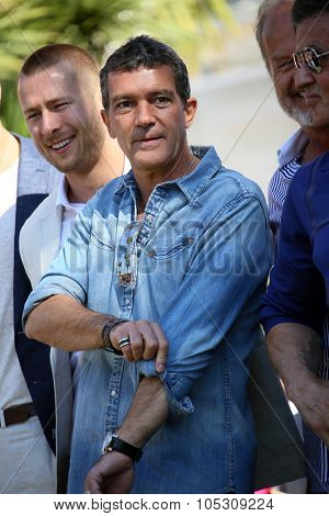 CANNES, FRANCE - MAY 18: Antonio Banderas attends a photocall for 'The Expendables 3' at the Carlton Hotel on May 18, 2014 in Cannes, France.