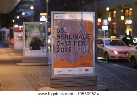 BERLIN, GERMANY - FEBRUARY 04: Berlinale posters are seen prior to the opening of the Berlin Film Festival, or Berlinale, on February 4, 2015 in Berlin, Germany.