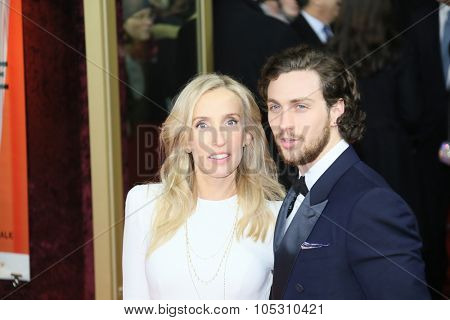 BERLIN, GERMANY - FEBRUARY 11: Jamie Dornan, Sam Taylor-Johnson attend the 'Fifty Shades of Grey' premiere during the 65th Berlinale Festival at Zoo Palast on February 11, 2015 in Berlin, Germany.