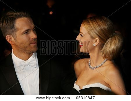 CANNES, FRANCE - MAY 16: Ryan Reynolds and Blake Lively attend 'The Captive' premiere during the 67th Cannes Film Festival on May 16, 2014 in Cannes, France