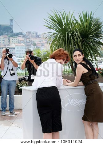 CANNES, FRANCE - MAY 21:  Fanny Ardant. Ronit Elkabetz attend the Hommage To Fanny Ardant photocall at the Palais De Festivals during the 62nd  Cannes Festival on May 21, 2009 in Cannes, France.