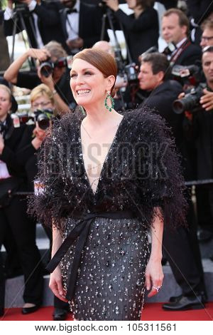 Julianne Moore attends the opening ceremony and 'La Tete Haute' premiere during the 68th annual Cannes Film Festival on May 13, 2015 in Cannes, France.