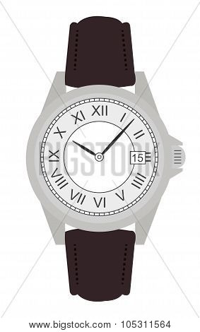 Business hand watches. No outline