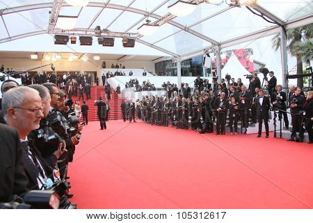 Photographer attend the 'Dheepan' Premiere during the 68th annual Cannes Film Festival on May 21, 2015 in Cannes, France.
