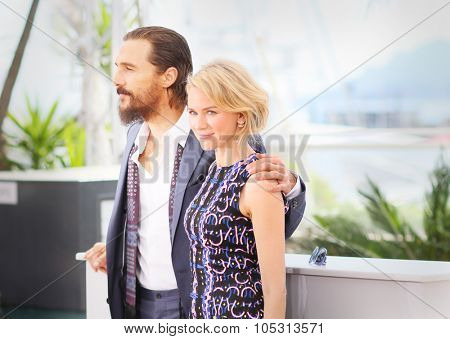 Matthew McConaughey and Naomi Watts attend the 'The Sea of Trees' photocall during the 68th annual Cannes Film Festival on May 16, 2015 in Cannes, France.