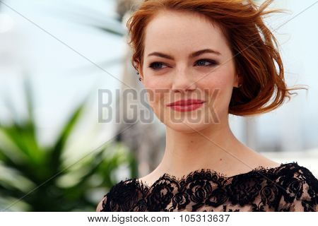 Emma Stone, attends the 'Irrational Man' photocall during the 68th annual Cannes Film Festival on May 15, 2015 in Cannes, France.