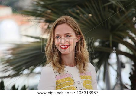 Emily Blunt  attends a photocall for 'Sicario' during the 68th annual Cannes Film Festival on May 19, 2015 in Cannes, France.