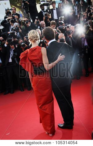 Actor Josh Brolin and his fiancee Kathryn Boyd attend the 'Sicario' premiere during the 68th annual Cannes Film Festival on May 19, 2015 in Cannes, France.