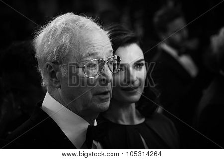 CANNES, FRANCE - MAY 20, 2015: Sir Michael Caine, Rachel Weisz  attend the 'Youth' Premiere during the 68th annual Cannes Film Festival on May 20, 2015 in Cannes, France.