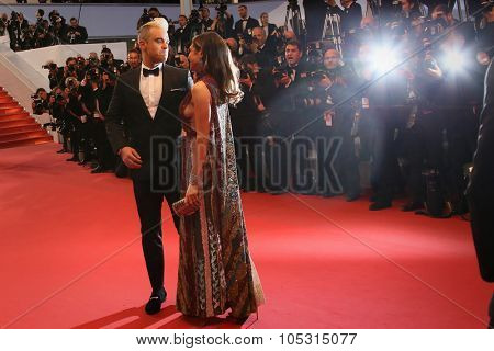 Robbie Williams & Ayda Field attend the premiere of 'The Sea Of Trees' during the 68th annual Cannes Film Festival on May 16, 2015 in Cannes, France.