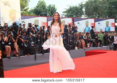 Alessandra Ambrosio attend the opening ceremony and premiere of 'Everest' during the 72nd Venice Film Festival on September 2, 2015 in Venice, Italy.