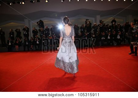 Kristen Stewart attends the premiere of 'Equals' during the 72nd Venice Film Festival at Sala Grande on September 5, 2015 in Venice, Italy.