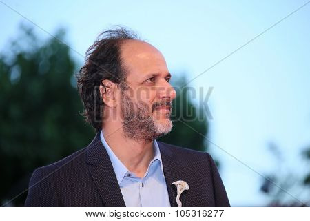 Luca Guadagnino attends a premiere for 'A Bigger Splash' during the 72nd Venice Film Festival at Sala Grande on September 6, 2015 in Venice, Italy.