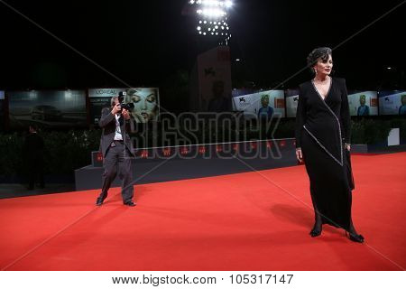 Patricia Reyes Spindola attends a premiere for 'La Calle De La Amargura' during the 72nd Venice Film Festival at Sala Grande on September 10, 2015 in Venice, Italy.