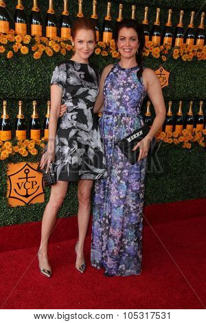 LOS ANGELES - OCT 17:  Darby Stanchfield, Bellamy Young at the Sixth-Annual Veuve Clicquot Polo Classic at the Will Rogers State Historic Park on October 17, 2015 in acific Palisades, CA