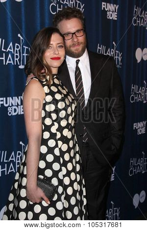 LOS ANGELES - OCT 17:  Lauren Miller Rogen, Seth Rogen at the Hilarity for Charity`s James Franco`s Bar Mitzvah at the Hollywood Paladium on October 17, 2015 in Los Angeles, CA