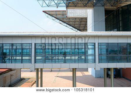 HANOI, VIETNAM - MAY 11, 2015: Noi Bai International Airport building. Noi Bai International Airport is the largest airport in Vietnam. It is the main airport serving Hanoi