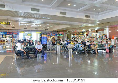 HANOI, VIETNAM - MAY 11, 2015: Noi Bai International Airport interior. Noi Bai International Airport is the largest airport in Vietnam. It is the main airport serving Hanoi