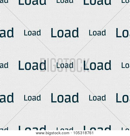 Download Now Icon. Load Symbol. Seamless Abstract Background With Geometric Shapes.