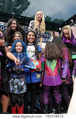 LOS ANGELES - OCT 17:  Sofia Carson, Dove Cameron, fans at the Stars of