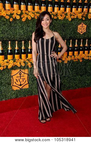 LOS ANGELES - OCT 17:  Aimee Garcia at the Sixth-Annual Veuve Clicquot Polo Classic at the Will Rogers State Historic Park on October 17, 2015 in acific Palisades, CA