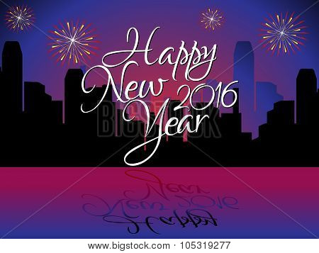 Abstract Happy New Year Background