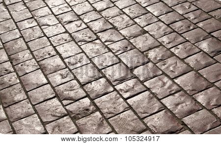 Abstract background of old cobblestone pavement